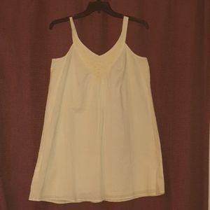 White pull over tank dress
